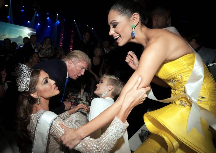 Дональд Дж. Трамп, тогдашний соорганизатор конкурса Мисс Вселенная, на банкете после конкурса 2013 года в Москве. Он использовал визит в Москву, чтобы обсудить планируемые сделки. Stoyan Vassev/Reuters