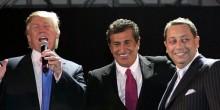 Г-н Трамп с Тевфиком Арифом, в центре, и Феликсом Сатером на вечеринке в Сохо в 2007 году. Трамп обсуждал перспективы в России своей девелоперской компании «Бэйрок Групп». Эти перспективы так ни во что и не воплотились. Mark Von Holden/WireImage