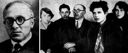Справа: Композиторский кружок 1930-х годов. В центре Г. Сметанин