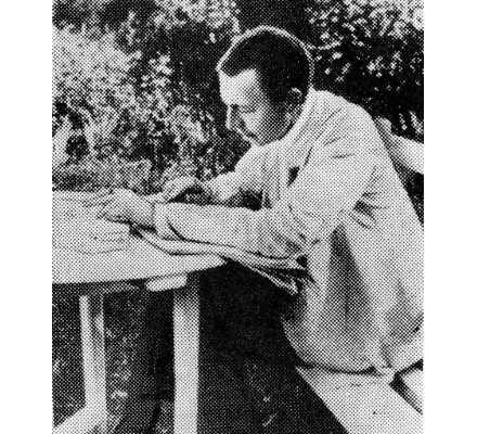 С.В. Рахманинов в Ивановке за корректурой 3-го концерта для фортепиано с оркестром. 1910 г.